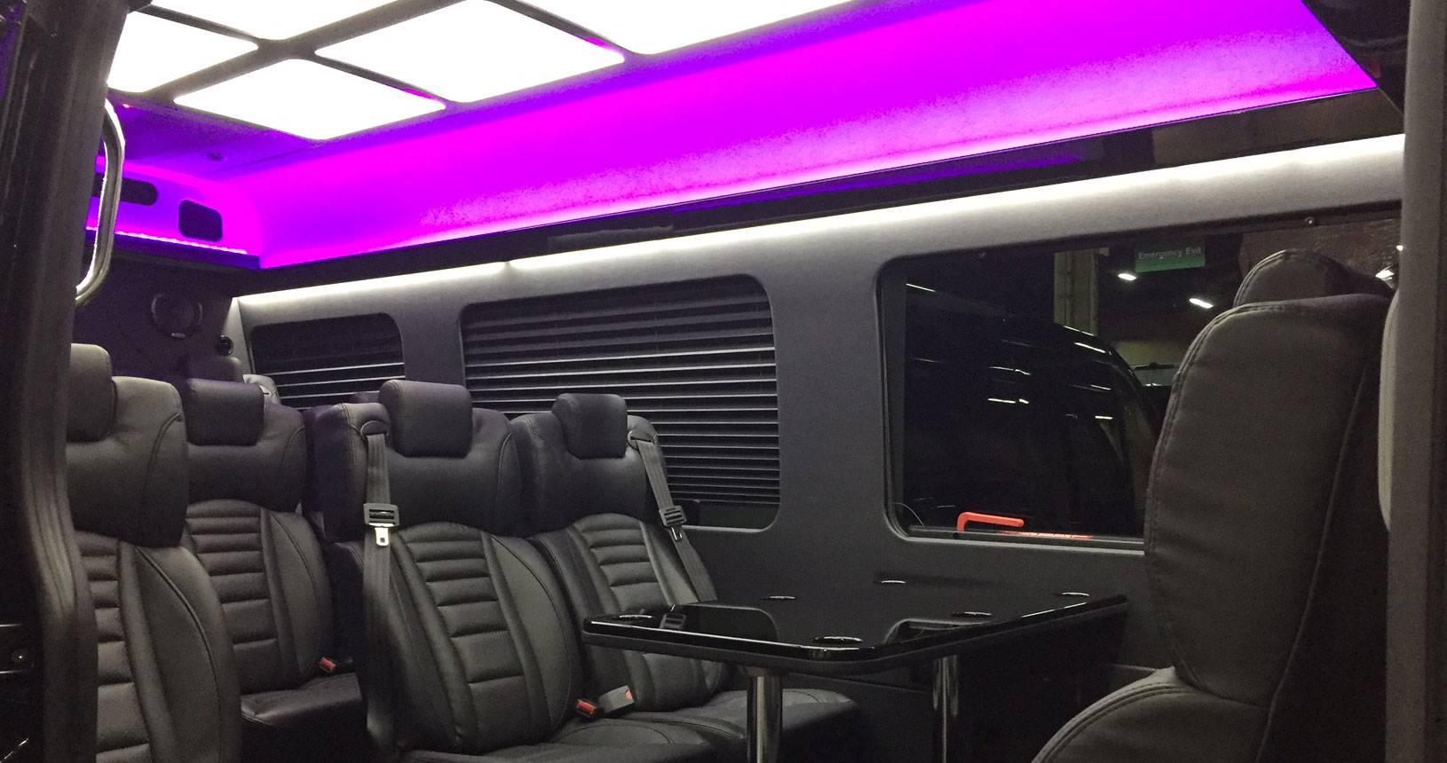 14 passenger mercedes sprinter michael 39 s limousine - Mercedes sprinter interior light ...